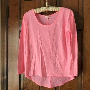 CXO Pink High-Low Scoop Neck Tunic Small
